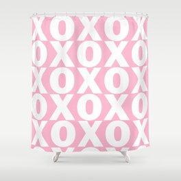 XOXO - Light Pink Pattern Shower Curtain