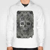 hell Hoodies featuring Lace Skull by Ali GULEC