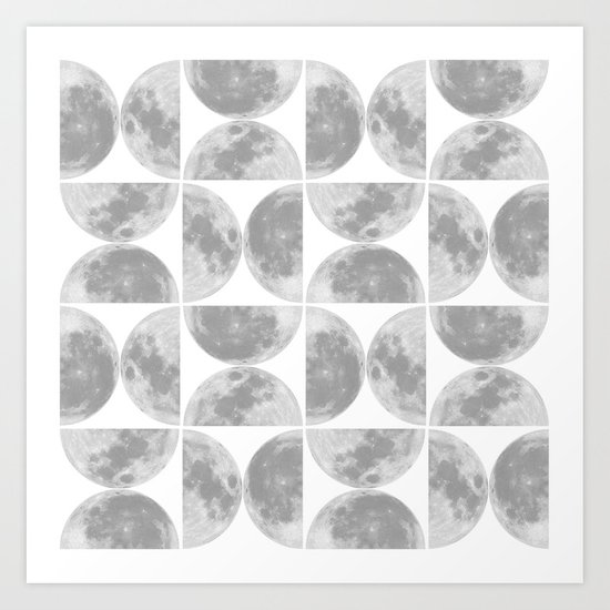 Moon Pattern #2 Art Print