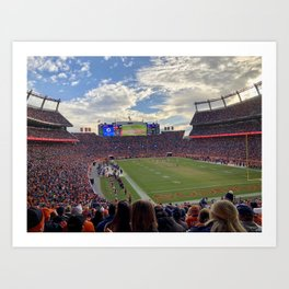 Mile High Stadium on Gameday! Go Broncos! Art Print
