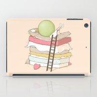 sleep iPad Cases featuring Can't sleep by Naolito