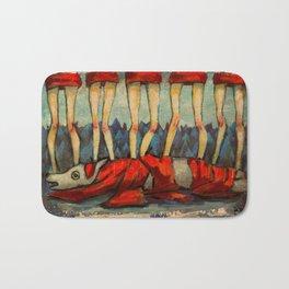 Five Little Red Riding Hoods 2 Bath Mat