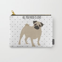 Love And Pugs Carry-All Pouch