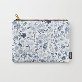 Watercolor florals in blue Carry-All Pouch