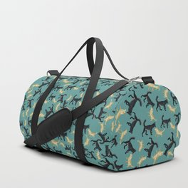 Romeo the wolf & Juliet Pattern Duffle Bag