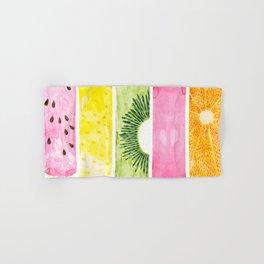 Summer Fruits Watercolor Abstraction Hand & Bath Towel