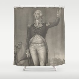 Vintage George Washington Portrait (1854) Shower Curtain