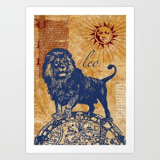leo   löwe Art Print