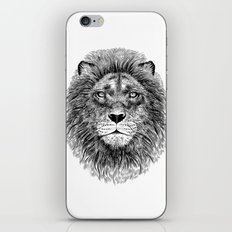 Black+White Lion iPhone & iPod Skin