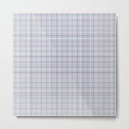 Mauve Blue Grid Checks II Metal Print