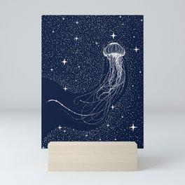 starry jellyfish Mini Art Print
