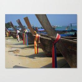 Colours on Shore Canvas Print