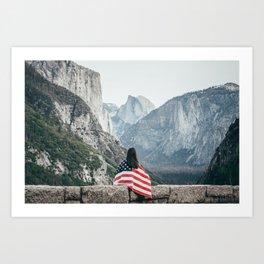The Yosemite Valley. Art Print