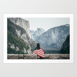 The Yosemite Valley. Art Print