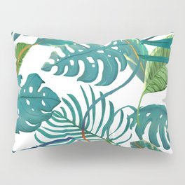 tropical diferent leaves Pillow Sham