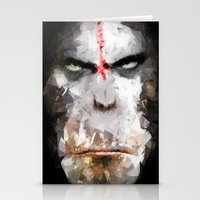 ape Stationery Cards featuring Ape by Vadim Cherniy
