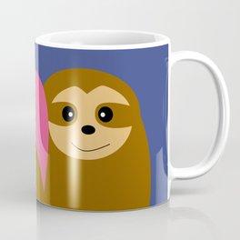 Sloth in love blue Coffee Mug