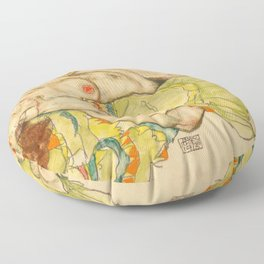 "Egon Schiele ""Female Lovers"" Floor Pillow"