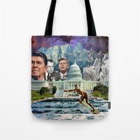 usa Tote Bags featuring USA by TRASH RIOT
