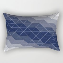 Navy Blue Triangles Rectangular Pillow
