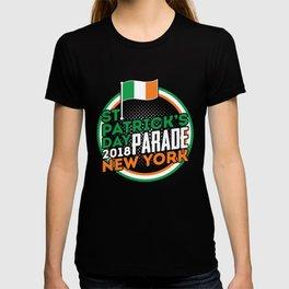 St. Patrick's Day Parade New York 2018 Ireland Flag T-shirt