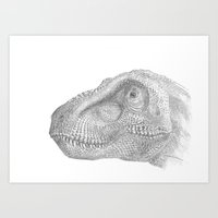trex Art Prints featuring TRex by KC Gillies