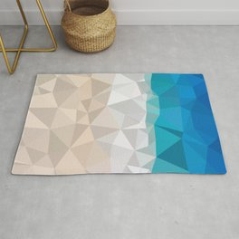 Low poly beach Rug