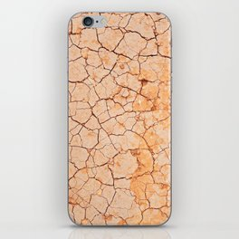Cracked dry land pattern iPhone Skin