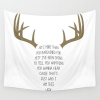 antler Wall Tapestries featuring Antler Boy by Ashland D