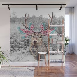 Fluttering Stag Wall Mural