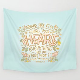 Guard Your Heart Wall Tapestry
