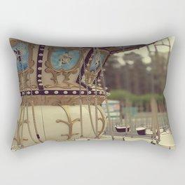 Carousel in the amusement park Rectangular Pillow