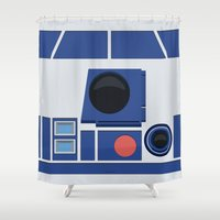 boob Shower Curtains featuring R2-D2 by dudsbessa