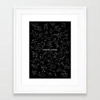 constellations Framed Art Prints featuring Constellations by Taylan Soyturk