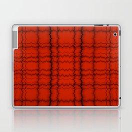 jagged grid, black on red Laptop & iPad Skin