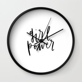 Girl Power Cursive Wall Clock