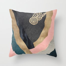 Cosmic Canyon Space Star Throw Pillow