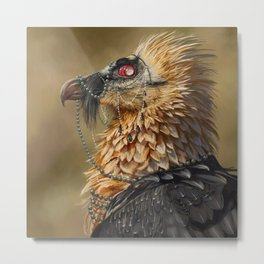 Necrophagy: Bearded Vulture Metal Print