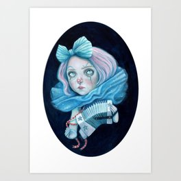 Little Clown with her Concertina Art Print