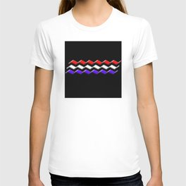 Rectilinear wave ....red,white,blue T-shirt