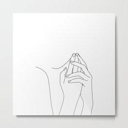 Simple figure illustration - Thea Metal Print