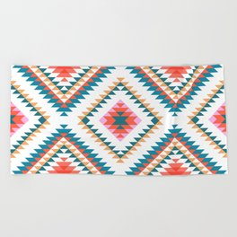 Aztec Rug 2 Beach Towel