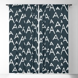 The Mountains are Calling | navy blue Blackout Curtain