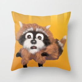 Raccoon Series: Running Scared Throw Pillow