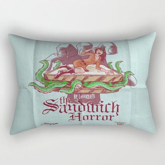 H.P. LoveKRAFT's  The Sandwich Horror Rectangular Pillow