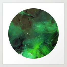 Emerald Occulus Art Print