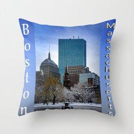 Winter in Boston Throw Pillow