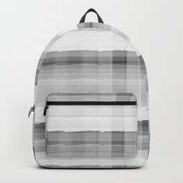 Gray and White Plaid Backpack