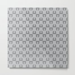 Geometric pattern in grey Metal Print