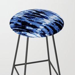 Blue Shibori Z Bar Stool